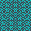 Seamless geometric pattern from lines and hexagons - vector eps8