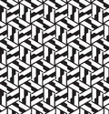 Seamless geometric pattern in op art design vector Stock Photos