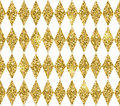 Seamless geometric pattern of rhombuses. Gold glitter texture.