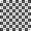 Seamless geometric pattern of squares and circles inside.