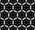 Seamless geometric pattern with stars decorative flower Stock Images