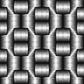 Seamless Geometric Pattern. Vector Black and White Tech Texture.