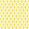 Seamless geometric pattern. Yellow, lemon, blue and white colors