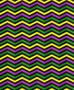 Seamless geometric pattern with zigzag stripes. Suitable for packaging, wrapping paper, wallpaper on Mardi Gras celebration. Royalty Free Stock Photo