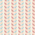 Seamless geometric patterns background leaves in pastel colors on a beige background. Abstract leaf texture