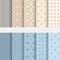 Seamless geometric patterns Royalty Free Stock Photo