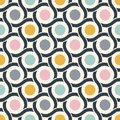 Seamless geometric 60s stylish retro circle mesh texture wallpaper pattern
