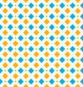 Seamless Geometric Texture with Rhombus and Dots, Funky Contrast