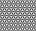 Seamless geometric texture with rounded triangular lattice