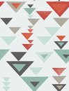 Seamless geometric triangle pattern with vintage texture Stock Image