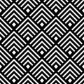 Seamless geometric vector background, simple black and white str Royalty Free Stock Photo