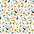 Seamless geometric vintage pattern in retro 80s style, memphis. for fabric design, paper print and website backdrop Royalty Free Stock Photo