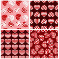 Seamless geometrical hearts. Stock Image