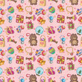 Seamless gift pattern Royalty Free Stock Images