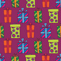 Seamless gifts pattern Royalty Free Stock Photography