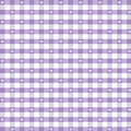 Seamless Gingham & Hearts, Pastel Lavender Stock Photo
