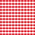 Seamless Gingham, Red Stock Photography