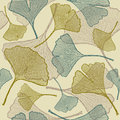 Seamless ginkgo background Royalty Free Stock Image