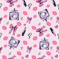 Seamless glamour fashion pattern in pink color