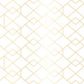 Seamless gold geometric pattern with line rhombus Royalty Free Stock Photo