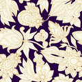 Seamless gold paisley pattern.orient design. illustration