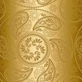 Bezšvový zlato vzor