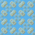 Seamless Gold Ring Pattern Royalty Free Stock Photo