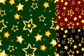 Seamless gold star pattern Stock Photos