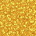 Seamless gold wallpaper Stock Photography