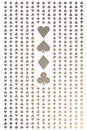 Seamless gold and white playing cards pattern for background Stock Image