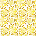 Seamless Golden Bouquets Fall Pattern Royalty Free Stock Photo