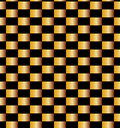Seamless Golden Bricks Pattern on Black Background. Suitable for textile, fabric and packaging