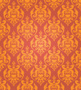 Seamless golden damask background Stock Image