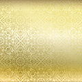 Seamless golden damask wallpaper Stock Photography