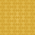 Seamless golden floral wallpaper pattern image illustration Stock Photo
