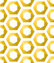 Seamless Golden hexagons as honeycombs