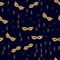 Seamless golden streamers and stars 1