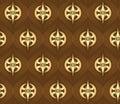 Seamless golden pattern Stock Image