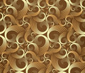 Seamless golden spirals pattern Stock Photo