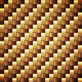 Seamless golden texture webbed square Royalty Free Stock Photography