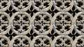 Seamless gothic architecture pattern detail carved stone circular it can be found on the interior gardens of batalha monastery Stock Image