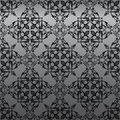 Seamless Gothic Damask Wallpaper Stock Photography