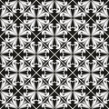 Seamless gothic floral pattern with cross Royalty Free Stock Photo