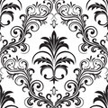 Seamless gothic wallpaper Stock Photography