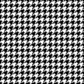 Seamless Graphic Houndstooth Pattern Black And White