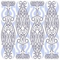 Floral curvy embroidery ornamental pattern