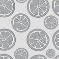 Seamless gray citruses Royalty Free Stock Photo