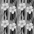 Seamless grayscale flower Royalty Free Stock Image