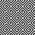 Seamless greek fret key pattern in black and white Royalty Free Stock Photo