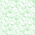 Seamless green avocado